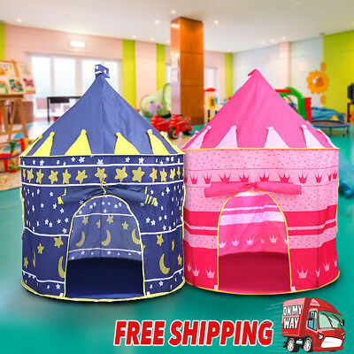 Kids Children Play Tent Prince Princess Castle Indoor Outdoor Kid Playhouse Gift