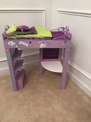 American Girl Doll Mckenna's Loft Bed Frame and Bedding