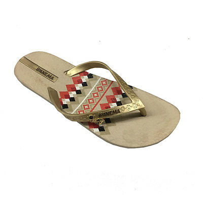 f6a0f443463 IPANEMA womens flip flops NEW NAVAJO FEM in 100% rubber MADE in BRAZIL 37