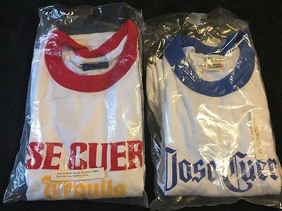 2 Vintage Jose Cuervo Tequila T Shirts USA Made Size XL New Old Stock