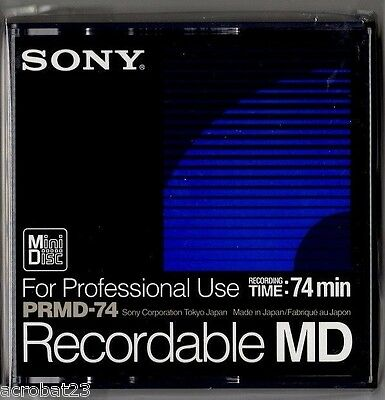 Sony Recordable MD PRMD-74 MiniDisc Mini Disc 74min For Professional Use New