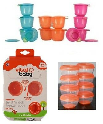 Vital Baby Food Freezer Storage Pods / Pots