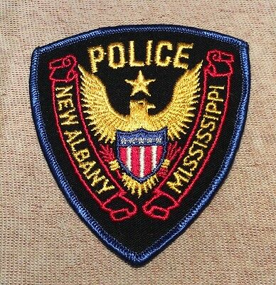 MS New Albany Mississippi Police Patch