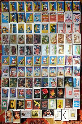 Large Interesting Collection Matchboxes With Original Matches 1977-2017 -108 pcs