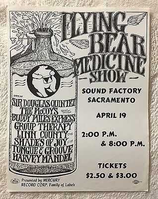 Sacramento's Sound Factory~The Flying Bear Medicine Show~4/19/1969 Rare!Handbill