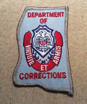 MS Mississippi Department of Corrections Patch (SL)