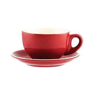 36x Large Cappuccino Cup & Saucer, Red, 330mL, Rockingham, Restaurant