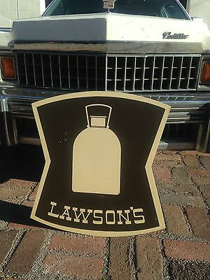 Lawsons  Milk Lawson's Store Station Dairy Sign Ohio Dairy Food Vintage Old