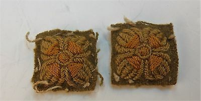 British -Canadian Ww1 Cef Officers Cuff Rank  Matched Pips For Uniform-Tunic