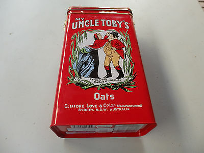 Uncle Toby's Oats Cereal Tin
