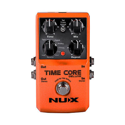 NUX Time Core Deluxe Delay Guitar Effect Pedal 7 Delay types Looper Tone lock