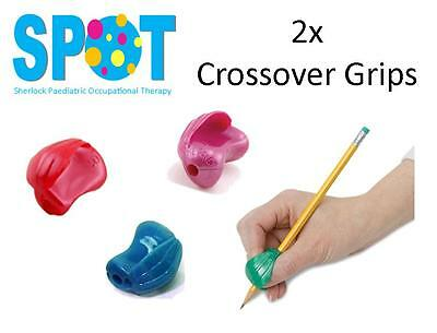 2x Crossover Pencil Grips *HAND WRITING school OT special needs THERAPY *