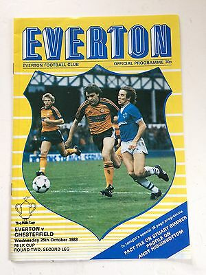 Everton v Chesterfield 1983-84 (League Cup Round 2, second leg)