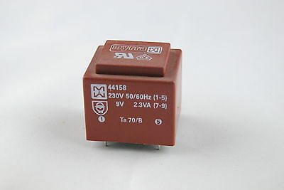 5PCS x TRANSFORMER MYRRA 44158 230V - 9V 2,3 VA   UL VDE MADE IN FRANCE