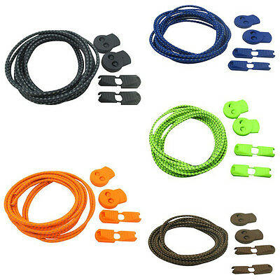 5 Color Elastic Shoelace Lock Laces Shoe Strings Fastening Sports Locking Toggle