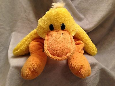 Princess Soft Toys Yellow Duck Plush MAC Quack Original Tags Poseable  2004