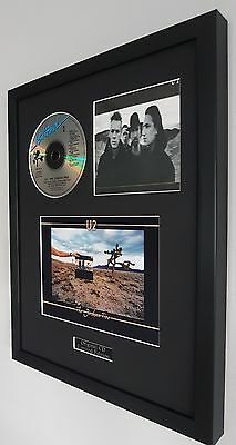 U2 The Joshua Tree Original CD-Ltd Edt-Plaque-Certificate-Bono-Luxury Box Framed