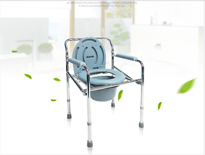 2018 NEW Steel commode chair with powder coated steel frame, height adjustable