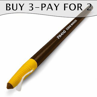 1 x Brown China Marker - Peel Off Chinagraph Pencil - Dixon - Buy 3, Pay for 2