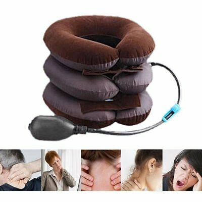 Cervical Neck Traction Device Headache Pain Relax Brace Support Pillow UK Stock