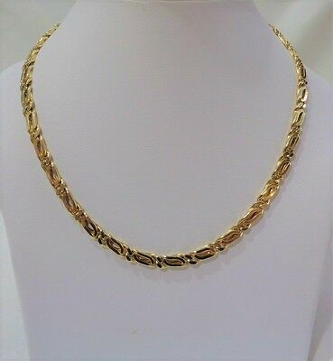 """14ct  Yellow Gold Fancy Link Chain - 24"""" (61cm) - 35.9g"""