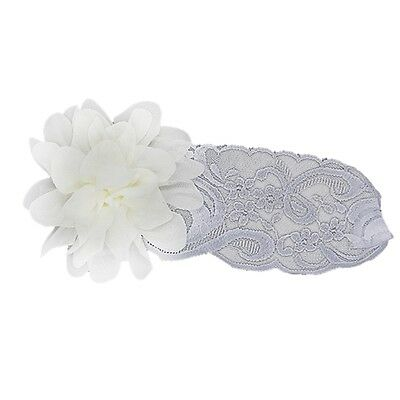 Child Baby Girl Elastic Lace Flower Headband Hairband Hair Accessories T8
