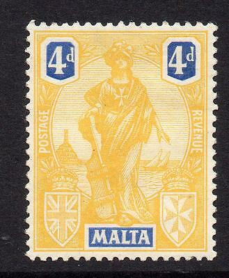 Malta 4d Stamp c1926 Mounted Mint (s118)