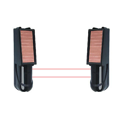 100M Dual Beam Wireless Solar Power IR Beam 433Mhz for Alarm System Security