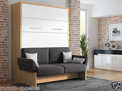 schrankbett wandbett klappbett sofa wbs 1 soft 140 x 200 cm holz buche wei eur. Black Bedroom Furniture Sets. Home Design Ideas