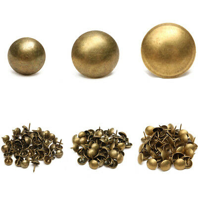 50/100pcs Antique Upholstery Tacks Brass Nails Furniture Decor Bronze Stud Pins