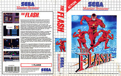The Flash Sega Master System Replacement Box Art Case Insert Cover Scan