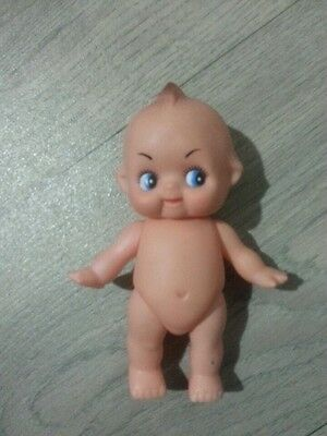 Small Plastic Kewpie Cupie Doll Jointed Arms and legs. 15cm High .
