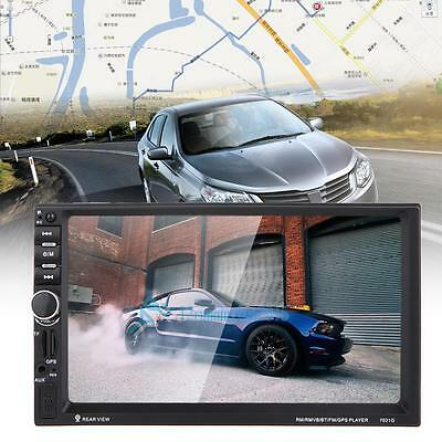 "GPS Navi 7 ""Touchscreen Doppel 2Din Auto Bluetooth MP3 Player TF / USB Karte DE"