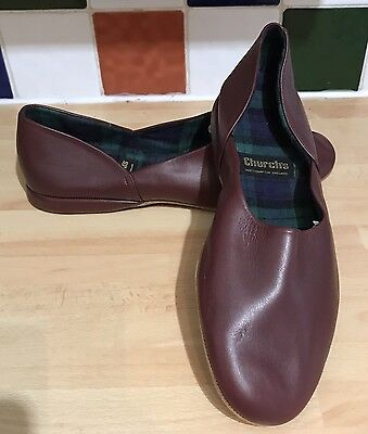 Church's Hermes Slippers Size UK 8 Brown Soft Leather Sole VGC