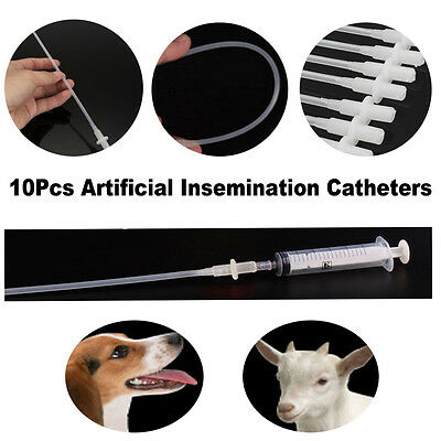 10PCS Canine Dog Sheep Goat Artificial Insemination Breeding Whelp Catheter Tube