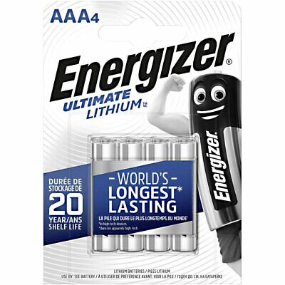 Lot 4 Piles Lithium Aaa Lr03 Lr3 E92 Micro Energizer Ultimate Lithium