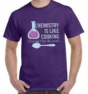Chemistry Is Like Cooking Just Don't Lick The Spoon Funny Science Unisex T Shirt