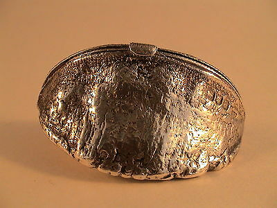 Rare Brazil Nut Solid Hallmarked Silver Vesta or Snuff Box Spink & Sons 1896