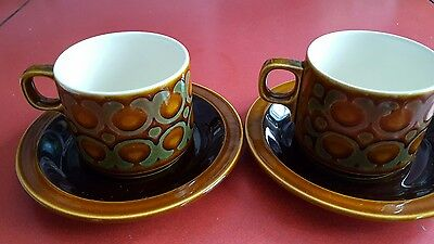 hornsea bronte 2 cups and saucers