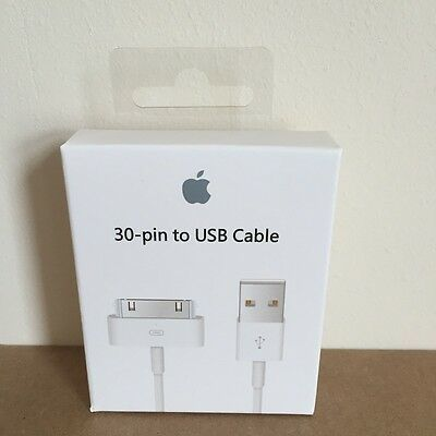 Genuine Official Apple Charger USB Lead Data Sync Cable iPhone 4S 4 3GS iPad 2/3