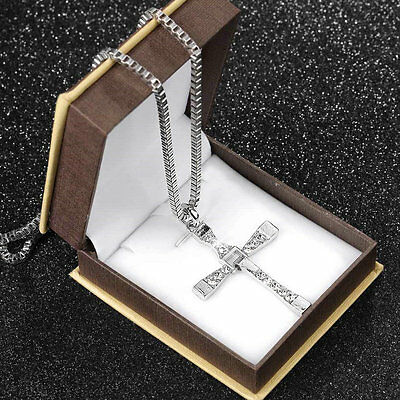 Hot The Fast and The Furious Dominic Toretto CROSS PENDANT Chain Necklace DS