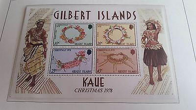 Gilbert Islands 1978 Sg Ms79 Christmas Mnh