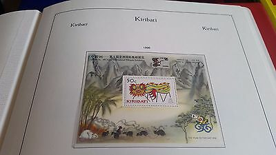Kiribati 1996 Sg Ms516 China 96 Stamp Exn Mnh