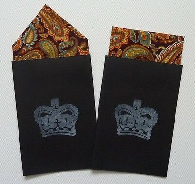 Men's Paisley Pocket Hankies - Set Of Two Fixed  Prefolded Handkerchief In Card