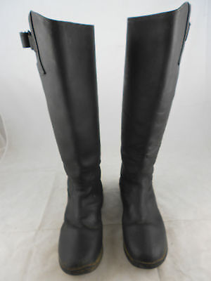 Derby HouseZipped WIDE LEG supple long black leather show riding boots UK9 EU445