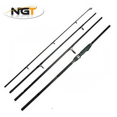 NGT Dynamic 9ft 4 Piece Travel Fishing Rod Coarse General Spinning Tackle