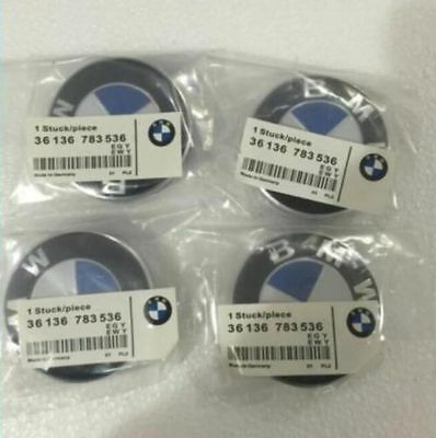 NEW 4pcs BMW Genuine Emblem Logo Badge Hub Wheel Rim Center Cap 68mm Set of 4