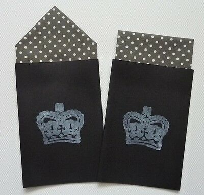 Men's Spotted Pocket Hankies - Set Of Two Fixed  Prefolded Handkerchief In Card