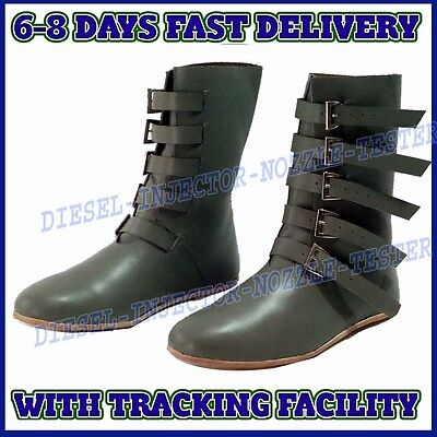 Medieval Leather Shoes Renaissance Period Boot Larp Role Play Boots Costume Shoe