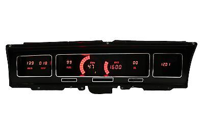 1968 Chevy IMPALA or CAPRICE Digital Gauge Instrument Panel Intellitronix RED!